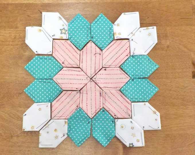 Lucy Boston Patchwork of the Crosses summer cottage block kit #45