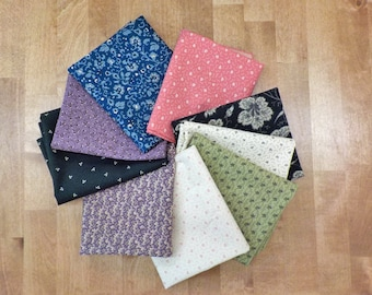Evelyn's Homestead 1880-1900 by Betsy Chutchian moda fabrics, curated bundle of 9 fat quarters