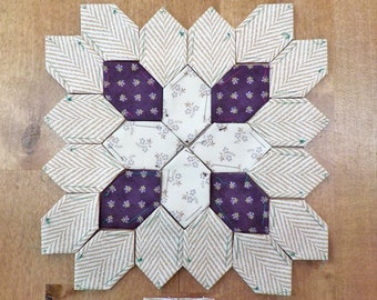 Lucy Boston Patchwork of the Crosses summer cottage block kit #44
