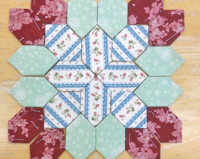 Lucy Boston Patchwork of the Crosses summer cottage block kit #9