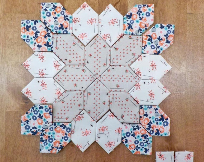 Lucy Boston Patchwork of the Crosses summer cottage block kit #32