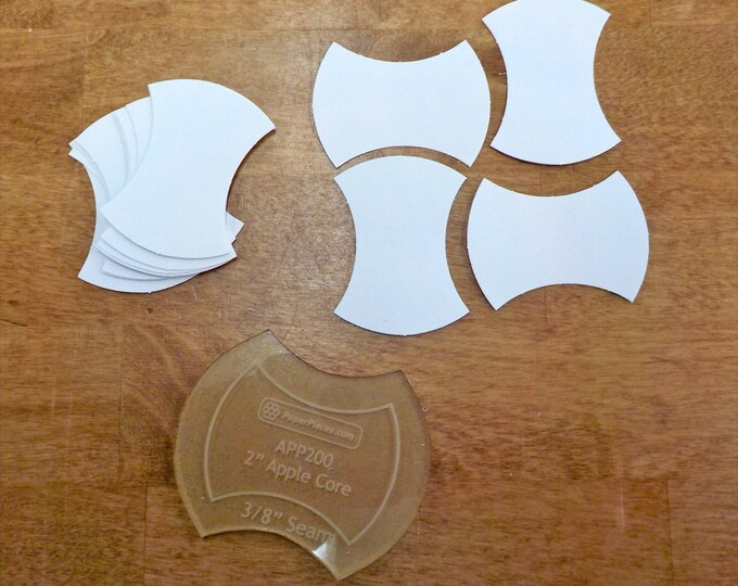 Apple Core, 2 inch...50 pieces, laser cut, acrylic template