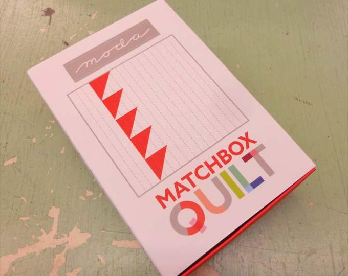 Matchbox Quilt No. 6 by moda fabrics...mini quilt kit...6 inch quilt kit