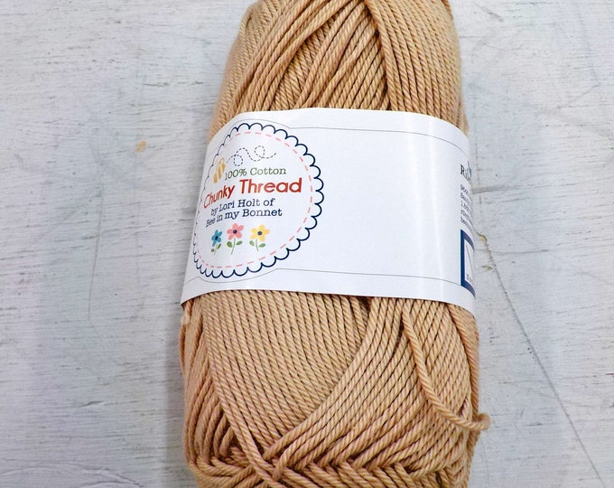 Chunky Thread by Lori Holt of Bee in my Bonnet...wheat, 50 grams, 140 yards, 128 meters