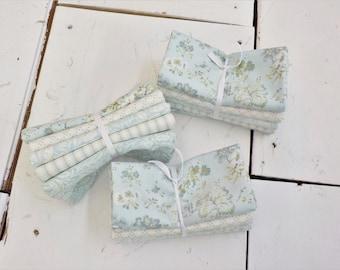 Dover Mist and Sea Glass 5 fat quarter bundle...designed by Brenda Riddle for Moda Fabrics