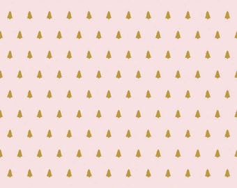 Santa Claus Lane Trees Pink Sparkle SC9613-PINK designed by Polka Dot Chair for Riley Blake Designs
