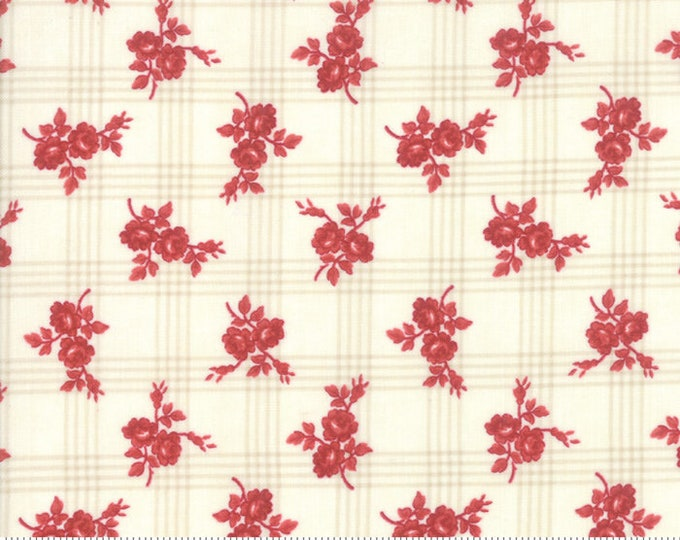 Northport Cream Red 14882 11 by Minick and Simpson for Moda Fabrics