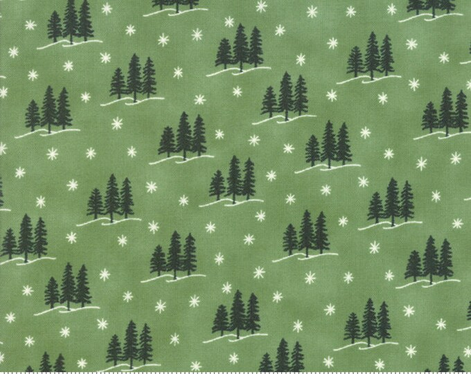 Holiday Lodge Evergreen 19895 13 designed by Deb Strain for Moda Fabrics
