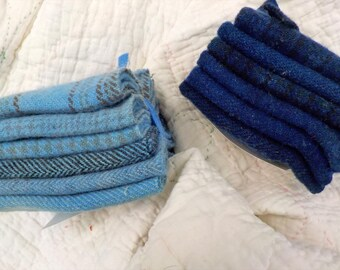 Wool 6-Pack...6 coordinating wools approximately 6 1/2 x 7 1/2 inches...2 Blue options