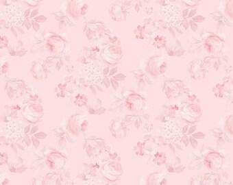 Rose & Violet's Garden Faded Roses Blush C10412 designed by Miss Rose Sister Violet for Riley Blake Designs