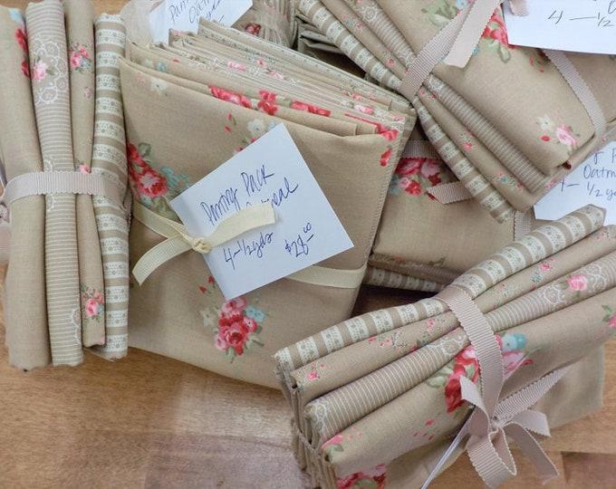 Pantry Pack:  Caroline Oatmeal....4--1/2 yards of Caroline soft browns by Brenda Riddle