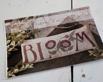 Bloom Where You're Planted by Brenda Gervais of With Thy Needle & Thread...cross-stitch design