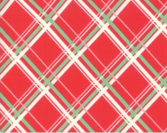 Deer Christmas Peppermint 31162 12 by Urban Chiks for Moda Fabrics