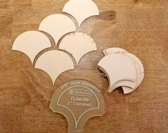 Clamshells, 2 inch...68 pieces, laser cut, acrylic template