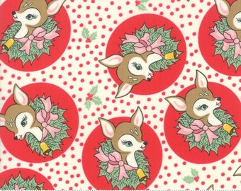 Deer Christmas Peppermint 31161 11 by Urban Chiks for Moda Fabrics