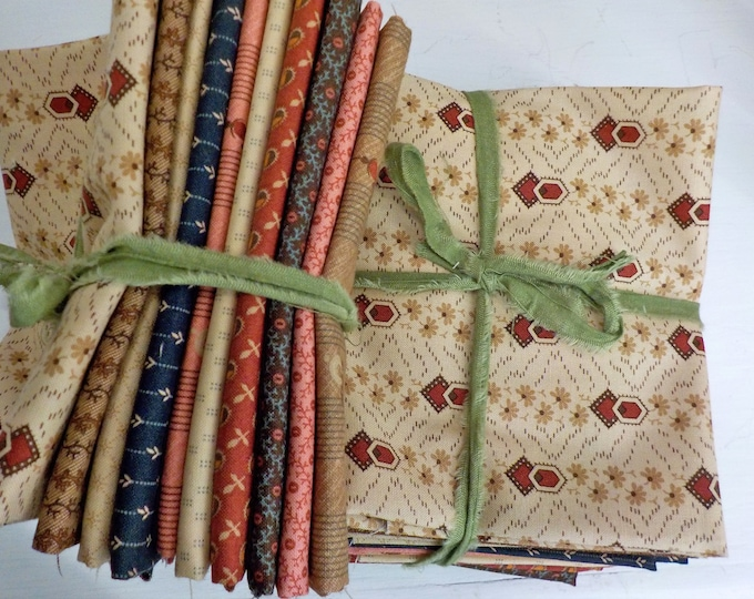 Timeless...10 fat quarter bundle by Jo Morton for Moda Fabrics...exclusive grouping