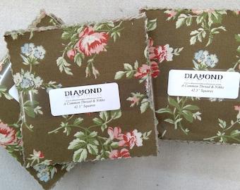 A Common Thread & Nikko...charm pack...5 inch squares...42 squares...Diamond Textile Wovens