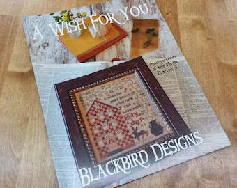 A Wish For You, Anniversaries of the Heart Pattern 3, by Blackbird Designs...cross-stitch design