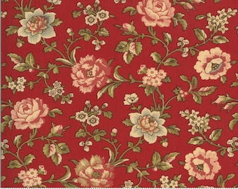 La Rose Rouge Rouge 13883 11 by French General for moda fabrics