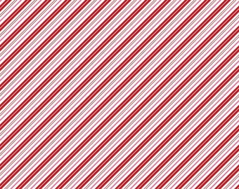 Santa Claus Lane Stripes Red C9616-RED designed by Polka Dot Chair for Riley Blake Designs