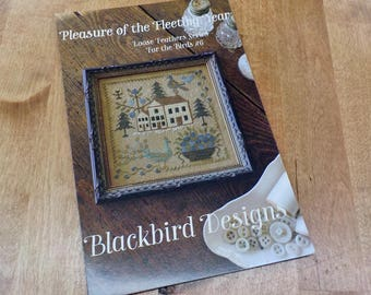 Pleasure of the Fleeting Year, Loose Feathers Series For the Birds #6, by Blackbird Designs...cross-stitch design