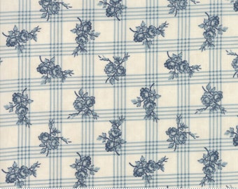 Northport Cream Blue 14882 12 by Minick and Simpson for Moda Fabrics