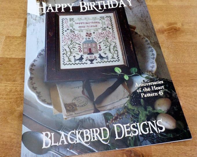 Happy Birthday, Anniversaries of the Heart Pattern 6, by Blackbird Designs...cross-stitch design