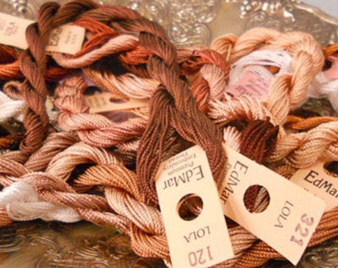 S'mores Thread Pack of 10 skeins of Edmar Thread.