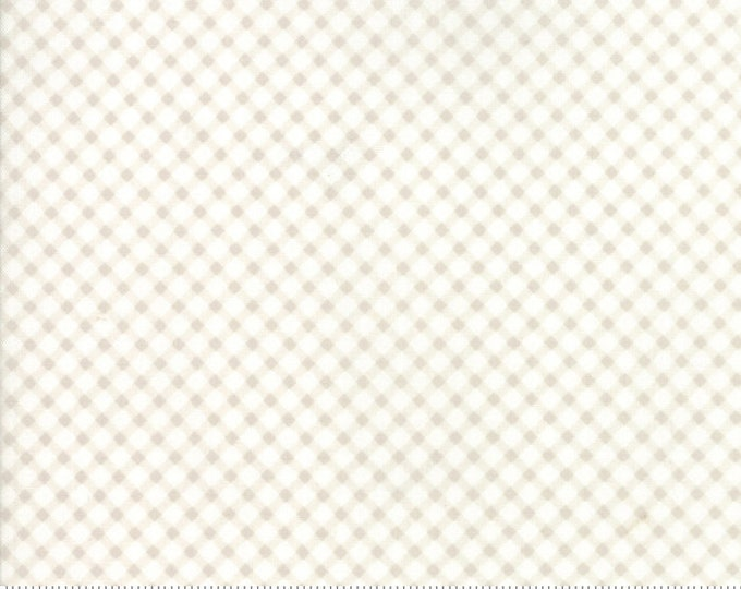 Amberley 18676 11 linen white check by Brenda Riddle Designs for Moda Fabrics