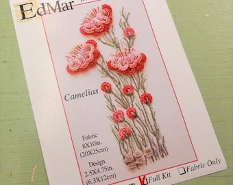 Camelias...EdMar 1702 project...Brazilian embroidery