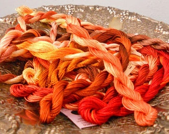 Fiery Autumn Thread Pack of 10 skeins of Edmar Thread.