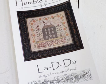 Humble & Kind by La-D-Da...cross stitch pattern, house cross stitch, sampler cross stitch