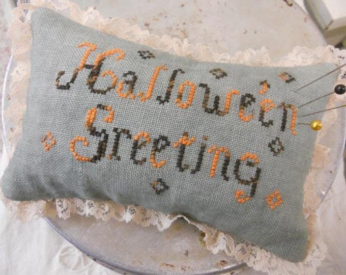 Hallowe'en Greetings by Blackbird Designs...cross-stitch kit