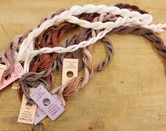 Coconut Mocha Thread Pack of 10 skeins of Edmar Thread.