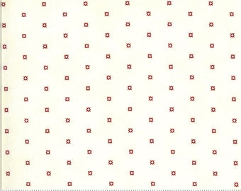 Redwork Gatherings Cream 49115 11 by Primitive Gatherings for moda fabrics