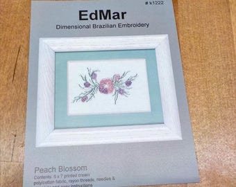 Peach Blossom...EdMar kit k1222...Brazilian embroidery
