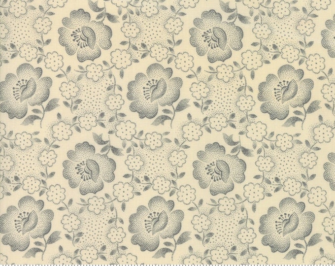 Jos Shirtings Parchment Charcoal 38040 22 by Jo Morton for moda fabrics