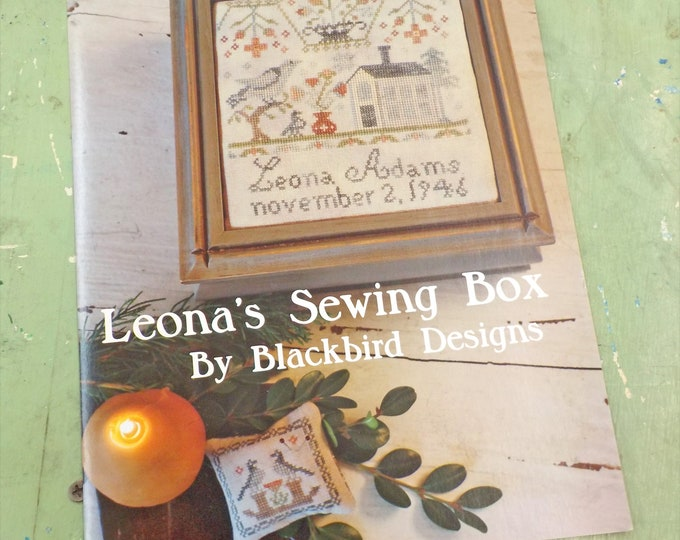 Leona's Sewing Box by Blackbird Designs...cross-stitch design