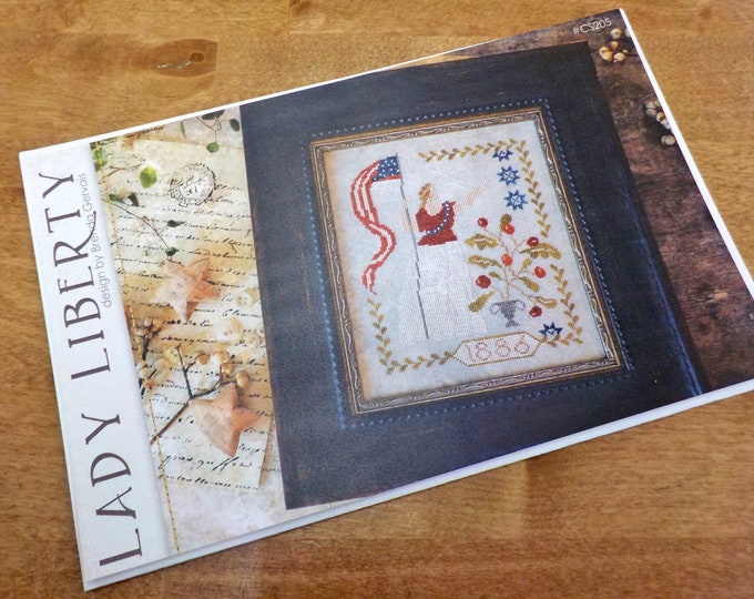 Lady Liberty by Brenda Gervais of With Thy Needle & Thread...cross-stitch design