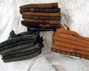Wool 6-Pack...6 coordinating wools approximately 6 1/2 x 7 1/2 inches...3 dark neutral options