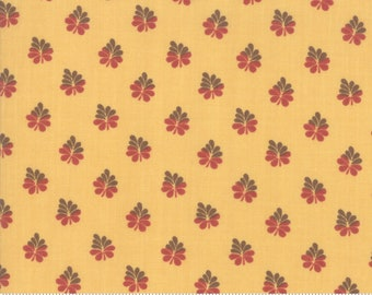 Sarah's Story 1830-1850, Butter 31596 15 fabric designed by Betsy Chutchian for Moda Fabrics