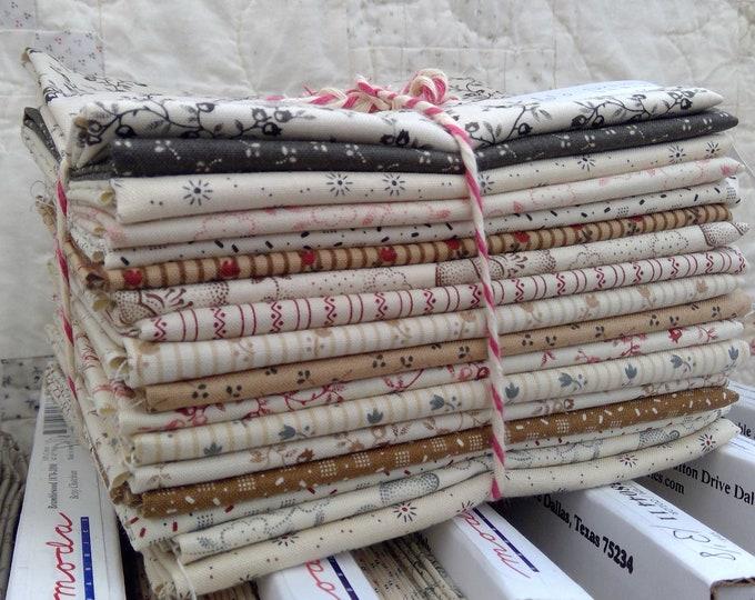 Jo's Shirtings, 17 print bundle, by Jo Morton for moda fabrics, fat quarters