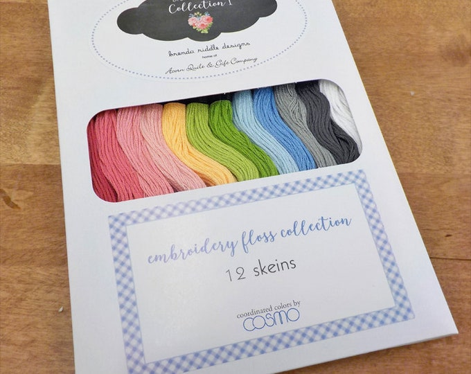 Brenda Riddle Designs embroidery floss designer pack, 12 skeins, Cosmo threads, Lecien