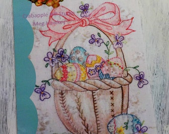 All My Eggs in One Basket...design only by Meg Hawkey of Crabapple Hill Studio