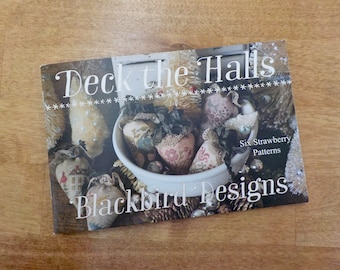 Deck the Halls, six strawberry patterns, by Blackbird Designs