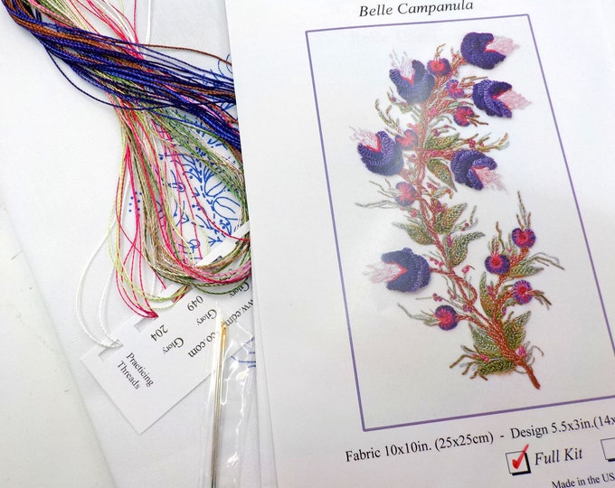 Belle Campanula...EdMar kit #5120...Brazilian embroidery