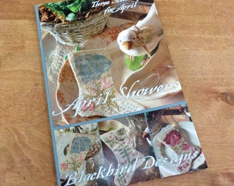 April Showers, 3 Stockings for April, by Blackbird Designs...cross-stitch design