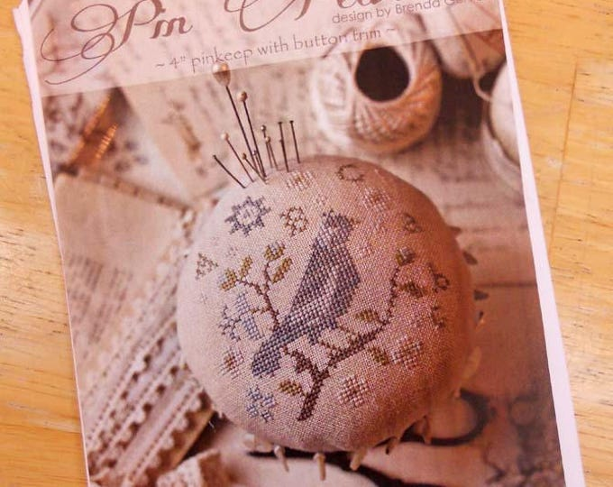 Pin Feathers by Brenda Gervais of With Thy Needle & Thread...cross-stitch design