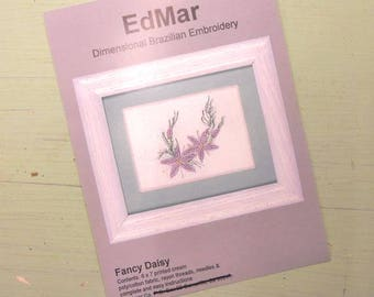 Fancy Daisy...EdMar kit...Brazilian embroidery