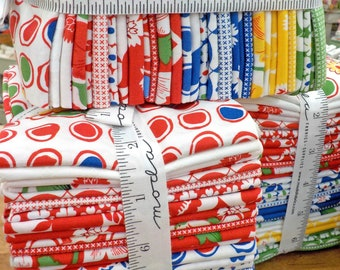 Red Rover Fat Quarter bundle by Linzee Kull McCray Moda Fabrics